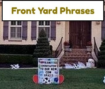 Front Yard Phrases